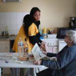 ©PHOTOPQR/VOIX DU NORD/Pib ; 20/03/2020 ; Coronavirus - Aide à domicile - rencontre avec des auxilaires de vie qui continuent d'intervenir. Photo Alexis Christiaen ( Pib) - La Voix du Nord (MaxPPP TagID: maxnewsspecial427549.jpg) [Photo via MaxPPP]